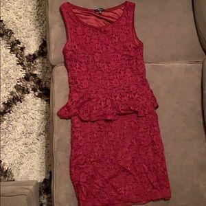 Soprano Lacy, Comfy Wine colored Dress